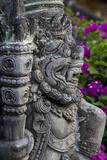 Bali, Indonesia. Guardian, Dwarapala, Statue in Kerta Gosa Compound Reprodukcja zdjęcia autor Charles Cecil