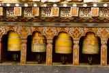 Prayer Wheels, Mani Wheel at Trongsa Dzong, Bhutan Photographic Print by Howie Garber