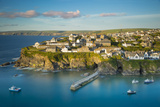 Sunset over Seaport Village of Port Isaac, Cornwall, England Photographic Print by Brian Jannsen
