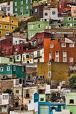 Mexico, Guanajuato. Detail of Homes on Hillside Papier Photo par Jaynes Gallery