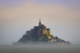 Misty Dawn at Le Mont Saint Michel, Normandy, France Photographic Print by Brian Jannsen