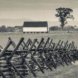 USA, Pennsylvania, Gettysburg, Battle of Gettysburg, Battlefield Fence Reproduction photographique par Walter Bibikow