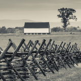 USA, Pennsylvania, Gettysburg, Battle of Gettysburg, Battlefield Fence Photographic Print by Walter Bibikow