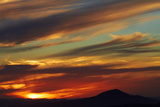 Sunset over Saddle Hill, Dunedin, South Island, New Zealand Photographic Print by David Wall
