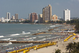 Beach Front, Cartagena, Atlantico Province. Colombia Photographic Print by Pete Oxford