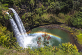 Wailua Falls and Scenery on the Hawaiian Island of Kauai Photographic Print by Andrew Shoemaker