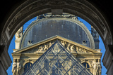 Morning at the Courtyard Entrance to Musee Du Louvre, Paris, France Photographic Print by Brian Jannsen