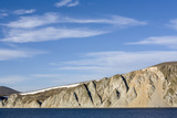 Russia, Chukotka, Provideniya, View of Cliff and Sea Photographic Print by Alida Latham