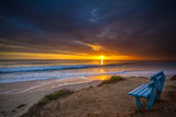 Sunset over the Pacific Ocean in Carlsbad, Ca Photographic Print by Andrew Shoemaker