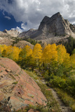 Lake Blanche Trail in Fall Foliage, Sundial Peak, Utah Photographic Print by Howie Garber