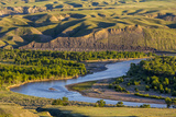 Marias River State Park in Spring Near Shelby, Montana, Usa Photographic Print by Chuck Haney