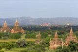 Bagan Pagodas. View from Thitsawady Pagoda. Bagan. Myanmar Photographic Print by Tom Norring