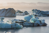 Iceland. East Region. Jokulsarlon. Glacial Lake. Icebergs in the Lake Photographic Print by Inger Hogstrom