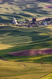 Wheat Fields, Palouse Country, Whitman County, Washington, Usa Photographic Print by Charles Cecil