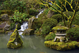 Mossy Waterfall, Portland Japanese Garden, Portland, Oregon, Usa Photographic Print by Michel Hersen