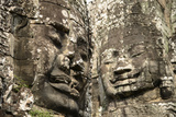 Cambodia, Angkor Wat. Angkor Thom, Bayon. Carved Faces of Lokesvara Photographic Print by Matt Freedman