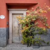 Mexico, San Miguel De Allende. Colorful Doorway. San Miguel De Allende Lámina fotográfica por Jaynes Gallery