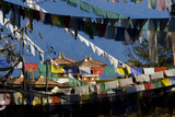 Prayer Flags and Chortens at Dochu La, Bhutan Photographic Print by Howie Garber
