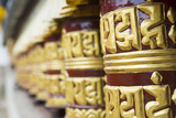 Nepal Prayer Wheels in Khumjung Solukhumbu, Mt Everest, Himalayas Photographic Print by Bill Bachmann