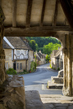 Market Cross Monument in Castle Combe, Cotswolds, Wiltshire, England Photographic Print by Brian Jannsen