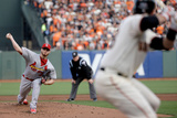NLCS - St Louis Cardinals v San Francisco Giants - Game Four Photographic Print by  Pool