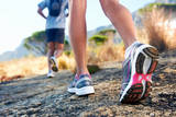 Trail Running Marathon Fitness Feet on Rock Fitness and Healthy Lifestyle Prints by  warrengoldswain