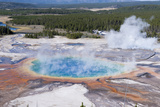 Grand Prismatic Geyser, Midway Geyser Basin, Yellowstone NP, WYoming Photographic Print by Howie Garber