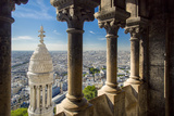 Top of Basilique Du Sacre Coeur in Montmartre, Paris, France Photographic Print by Brian Jannsen