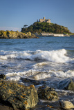 Waves Below Island of St Michael's Mount, Marazion, Cornwall, England Photographic Print by Brian Jannsen