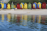 South Africa, Cape Town, View of Beach Huts Photographic Print by Michele Westmorland