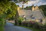 Sunset over Cottage in Snowshill, Cotswolds, Gloucestershire, England Photographic Print by Brian Jannsen