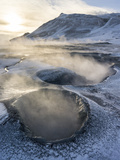 Geothermal Area Hveraroend, Iceland, February Photographic Print by Martin Zwick