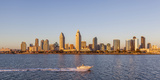 San Diego's Skyline as Seen at Sunset Photographic Print by Andrew Shoemaker