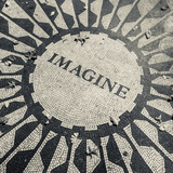 USA, New York, City, Central Park, John Lennon Memorial, Imagine Reproduction photographique par Walter Bibikow