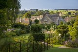 Garden Above the Rooftops of Burford, Cotswolds, Oxfordshire, England Photographic Print by Brian Jannsen