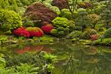 Pond, Strolling Garden, Portland Japanese Garden, Oregon, Usa Photographic Print by Michel Hersen