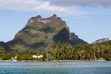 Bora Bora. Extinct Volcano and Peaks of Mount Otemanu and Mount Pahia Photographic Print by Alida Latham