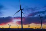 Wind Power in El Central for Better Ecology, California, Usa Fotodruck von Bill Bachmann
