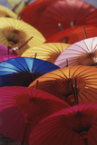Colorful Paper Parasol, Close-Up Photographic Print by Nik Wheeler