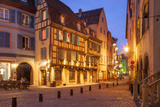 Twilight Street Scene in Colmar, Alsace, France Photographic Print by Brian Jannsen
