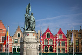 Statue of Jan Breydel and Pieter De Coninck, Bruges, Belgium Photographic Print by Brian Jannsen