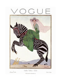 Vogue Cover - January 1926 Metal Print by André E. Marty
