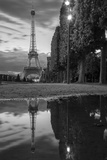 Dusk Reflections Below the Eiffel Tower, Paris, France Photographic Print by Brian Jannsen