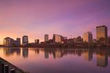 USA, New Jersey, Newark, City Skyline from Passaic River, Dawn Photographic Print by Walter Bibikow