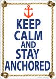 Keep Calm And Stay Anchored Plakietka emaliowana
