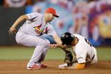 NLCS - St Louis Cardinals v San Francisco Giants - Game Four Fotografisk tryk af Ezra Shaw