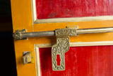Door Detail at Khumbjung Solukhumbu, Mt Everest, Himalayas, Nepal Photographic Print by Bill Bachmann