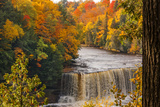 USA, Michigan, Paradise, Tahquamenon Falls State Park, Upper Falls Photographic Print by Sherry Zurey