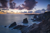 Twilight over the Bedruthan Steps Along the Cornwall Coast, England Photographic Print by Brian Jannsen