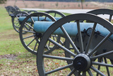 USA, Pennsylvania, Gettysburg, Artillery on Confederate Avenue Photographic Print by Walter Bibikow